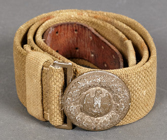 Desirable WWII German Army Officer Tropical DAK Belt and B