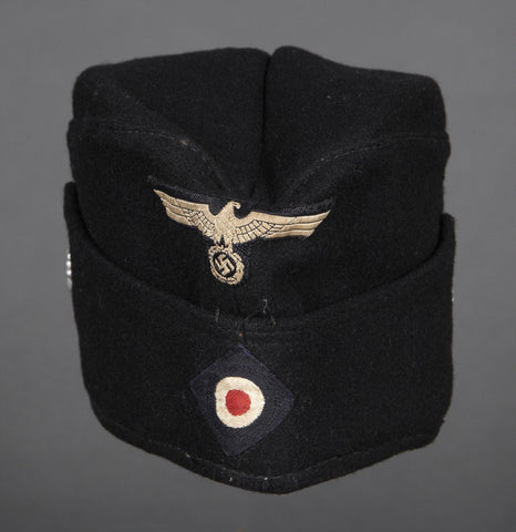"Interesting, WWII German Army Panzer ""Other Ranks"" Side Cap"