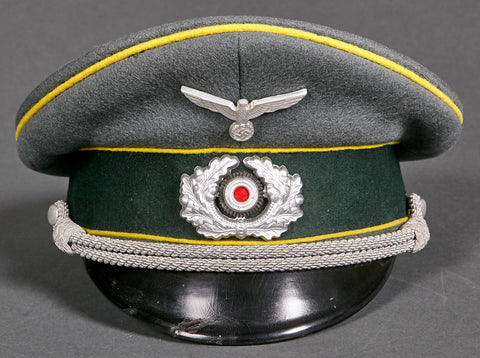 WWII German Army Signals Officer Private Purchase Visor