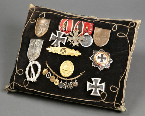 Amazing Funeral Pillow for WWII German Soldier