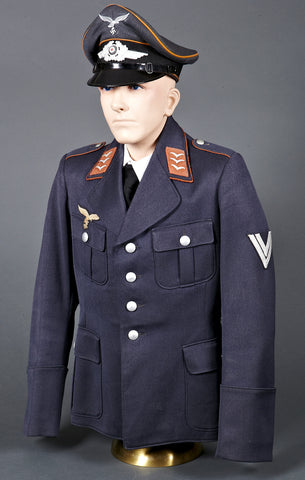Luftwaffe Signals Enlisted Man Grouping Including Visor and Tunic