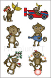 monkey temporary tattoos