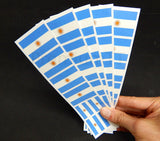 argentina flag stickers