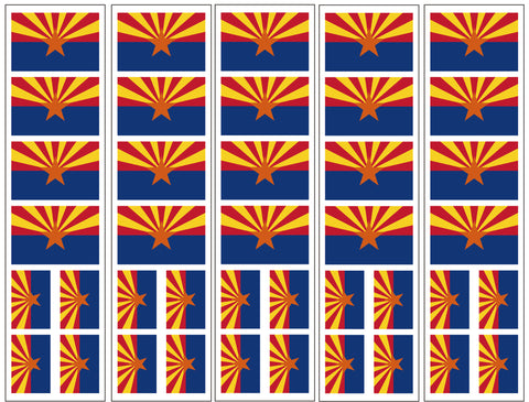 Arizona Flag Temporary Tattoo