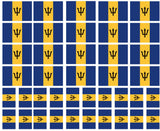 barbados flag tattoos