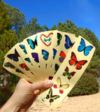 colorful butterfly stickers