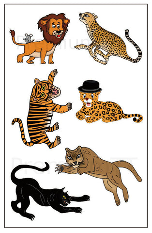 Big Cat Temporary tattoos