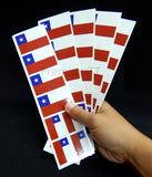 Chilean Flag Party Stickers