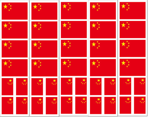 Chinese china flag stickers
