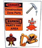Construction Zone Temporary Tattoos