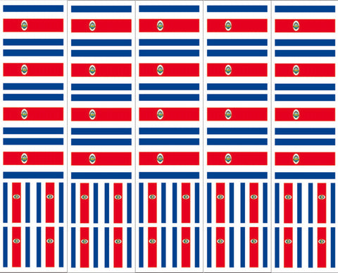 Costa Rica Flag Decals