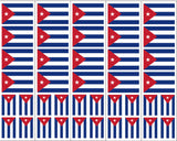 Cuba Flag Stickers