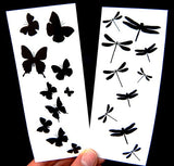 butterflies dragonflies temporary tattoos