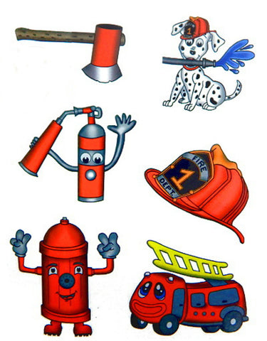 firefighter temporary tattoo party favor