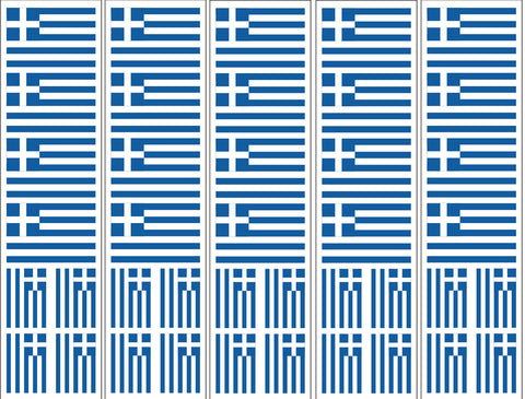 Greece Greek Flag Stickers