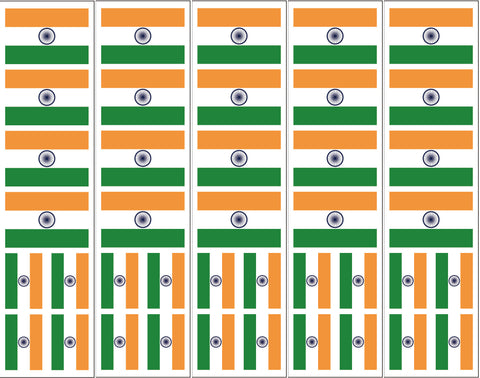 India Flag Reusable Sticker