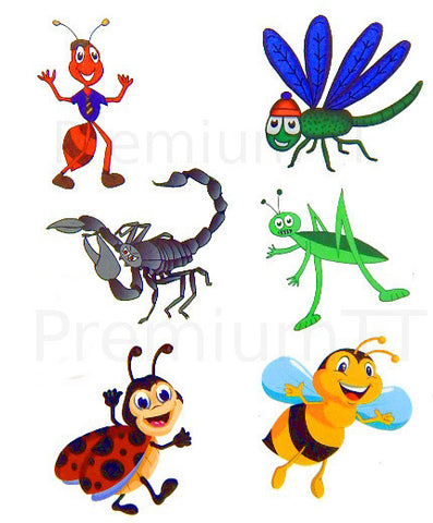 Insect / Bug Temporary Tattoos