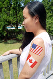 large america american flag temporary tattoo