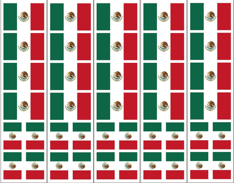 Mexico Mexican Flag Temporary Tattoo