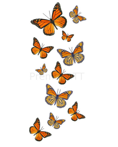 Monarch Butterfly Temporary Tattoos