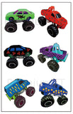 monster truck temporary tattoos