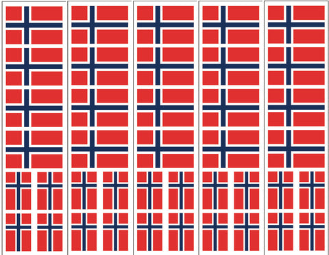 Norway Flag Sticker, Party Favor