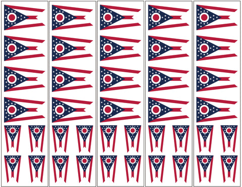 Ohio Flag Temporary tattoo