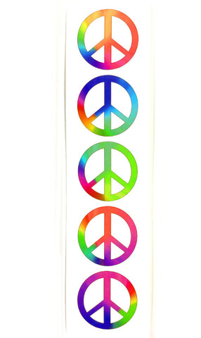 rainbow peace symbol tattoo