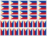 Philippines Flag Sticker, Party Favor
