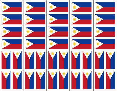 Philippines Flag Temporary Tattoo