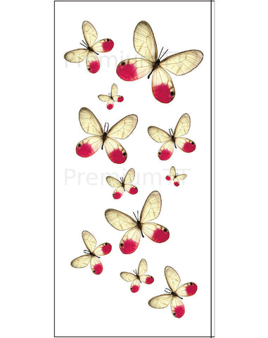 pink butterfly temporary tattoo