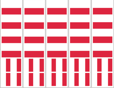 Poland Flag Temporary Tattoo