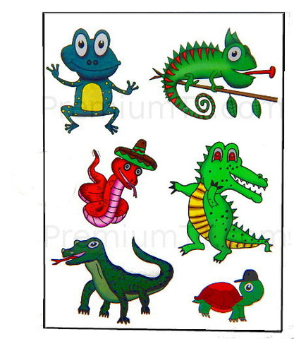 Reptile Temporary Tattoos