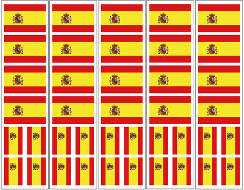 Spain Spanish Flag Temporary Tattoo