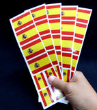 Spanish Flag Party Stickers Decals