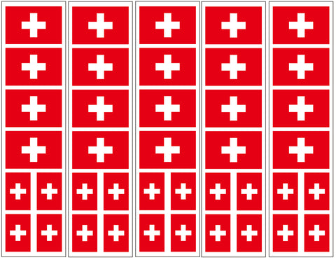 switzerland flag stickers