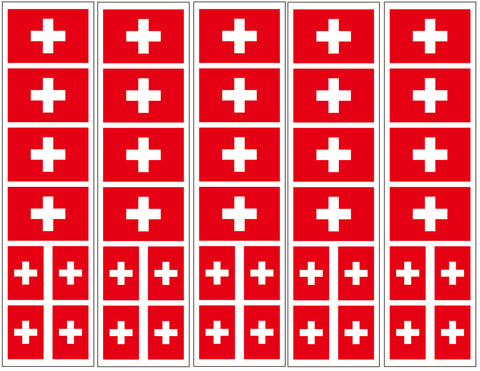 Swiss Flag temporary tattoo