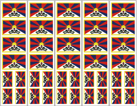 Tibet Flag Temporary Tattoo
