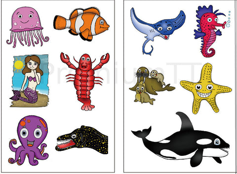 ocean animal sea creatures tattoos