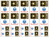 U.S. Army Logo Flag Stickers