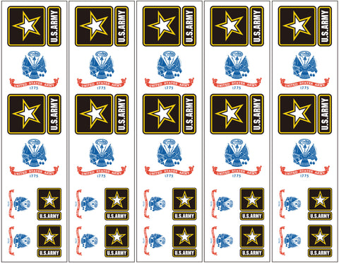 U.S. Army Logo Flag Tattoos