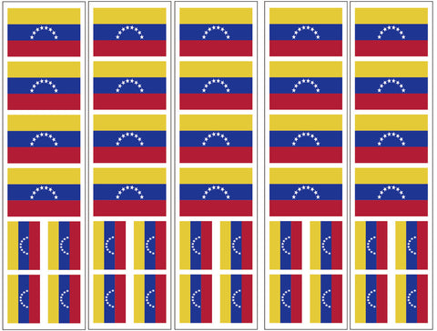 Venezuela Flag Temporary Tattoo