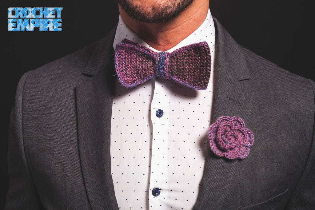 Purple Tie and Flower