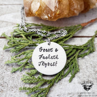 Goest and fucketh thyself necklace