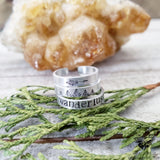Wanderlust Stamped stacking rings