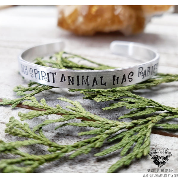 My spirit animal has rabies cuff bracelet