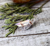 Aura Quartz crystal stud earrings