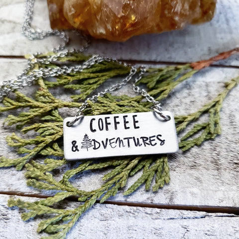 Coffee & Adventures necklace