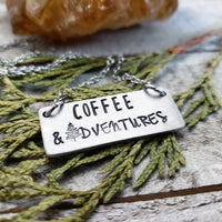 Coffee and Adventures necklace
