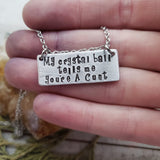 My crystal ball necklace